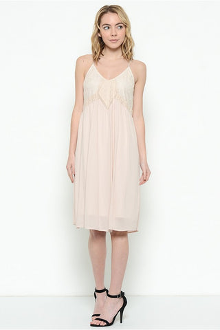 Esley Collection Lace Spaghetti Strap Dress (60496D-N)