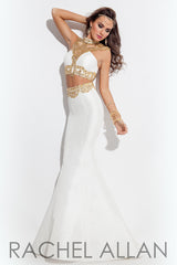 Rachel Allan Two-Piece Mermaid Dress (Style #7145)