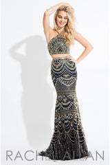Rachel Allan Fully Beaded Dress Style #7509