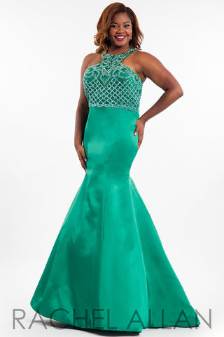 Rachel Allan Curves Fitted Dress Style #7834