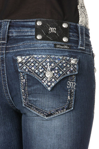 "*Miss Me ""Totally Mesmerized"" Skinny Jeans (JP7077S)"