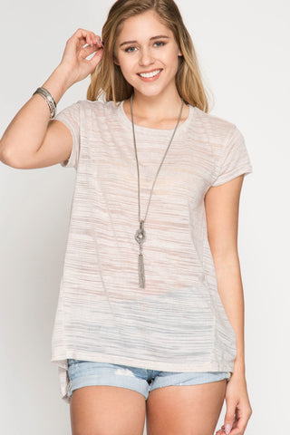She + Sky Textured Top (SL4092)