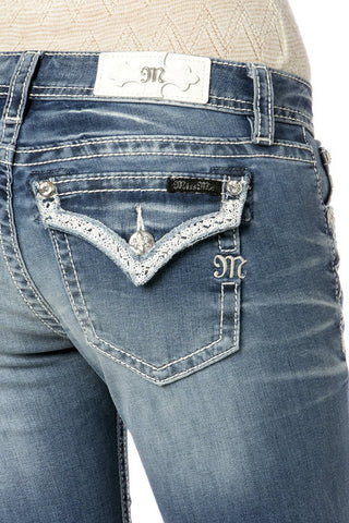 *Miss Me Silver of Truth Boot Cut Jeans (JP7268B)