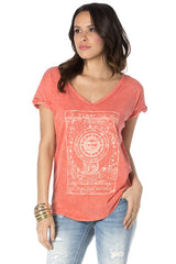 "Miss Me Coral ""Day and Night"" Tee (DT600)"