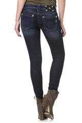 "*Miss Me ""Grand Jewel"" Ankle Skinny Jeans (JP7215AK)"