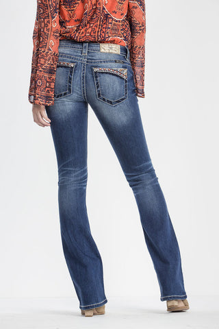 "*Miss Me ""Sunset Valley"" Boot Cut Jeans (JP7697B4)"