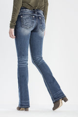 "*Miss Me ""Fray by the Rules"" Boot Cut Jeans (JP7765B)"