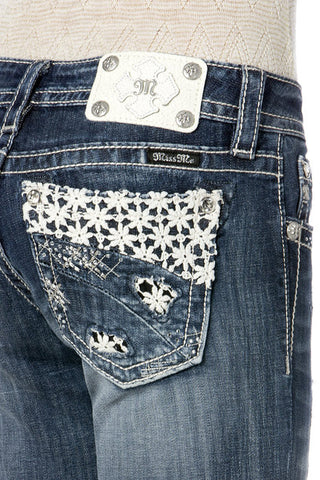 Miss Me Lacy Shine Boot Cut Jeans (JP8328B)