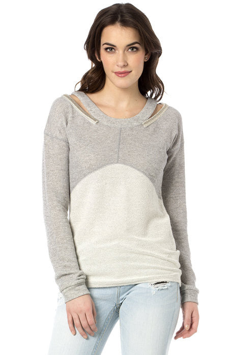 Miss Me Fresh Shreds Pullover Terry Top (MDT1002L)