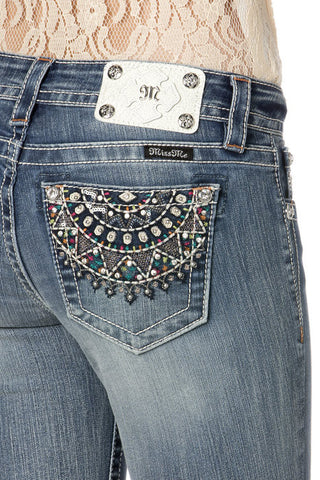 "*Miss Me ""Carnival Lover"" Mid-Rise Boot Cut Jeans (MP7124B)"