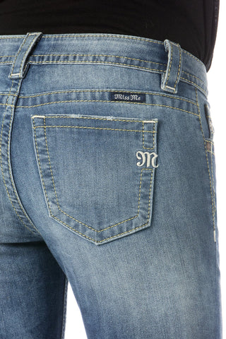 "*Miss Me ""Pacific Party"" Mid-Rise Skinny Jeans (MS515S173)"