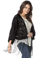 Miss Me Enchanted Lace Jacket in Black (MDJ157L)