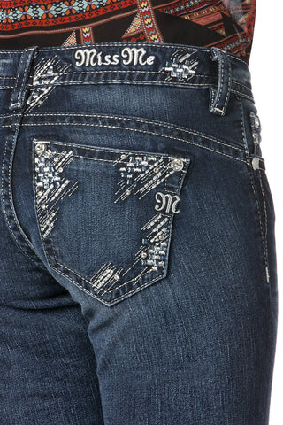 *Miss Me Feeling Sparkly Relaxed Boot Cut Jeans (XP7633B)