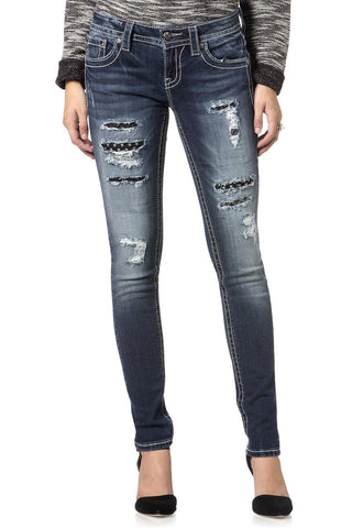 Miss Me Sequins of Events Skinny Jeans (JP7212S)