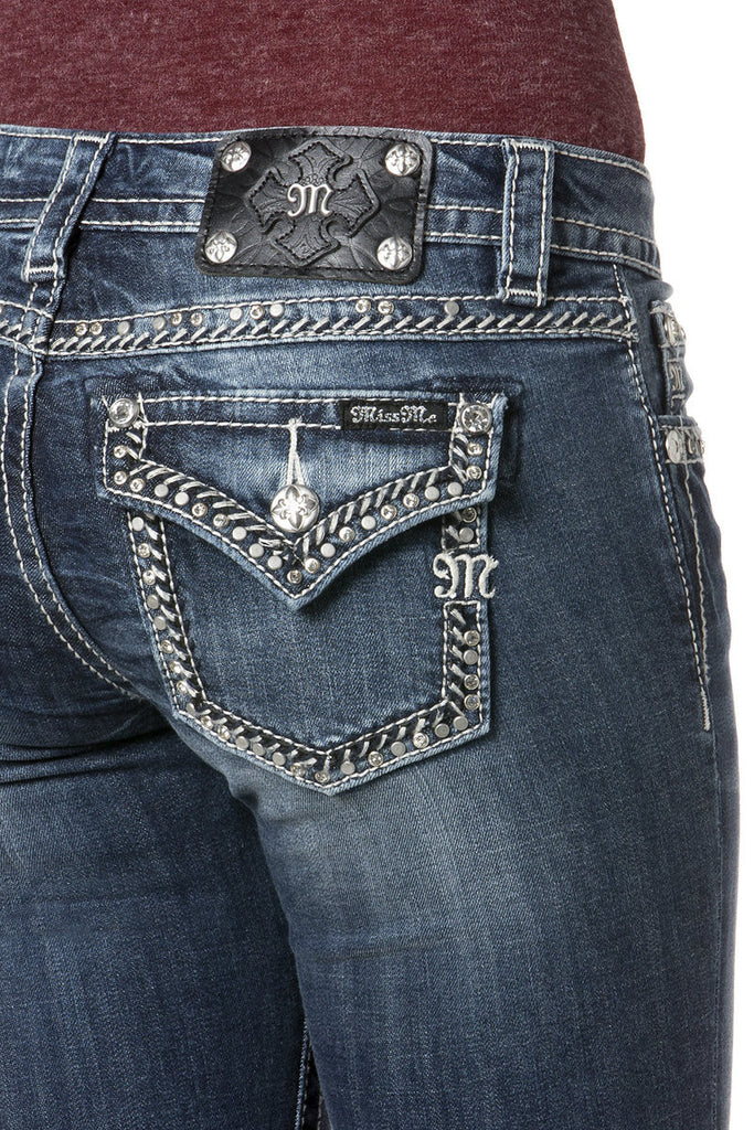 *Miss Me On Track Mid-Rise Boot Cut Jeans (MP7232B)