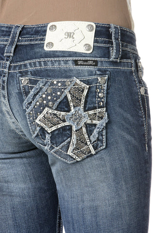 Miss Me Star Crossed Lovers Straight Leg Jeans (JP7206T)