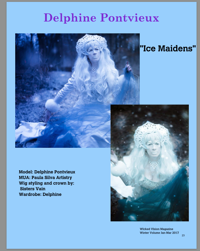 Delphine Pontvieux Snow queen model