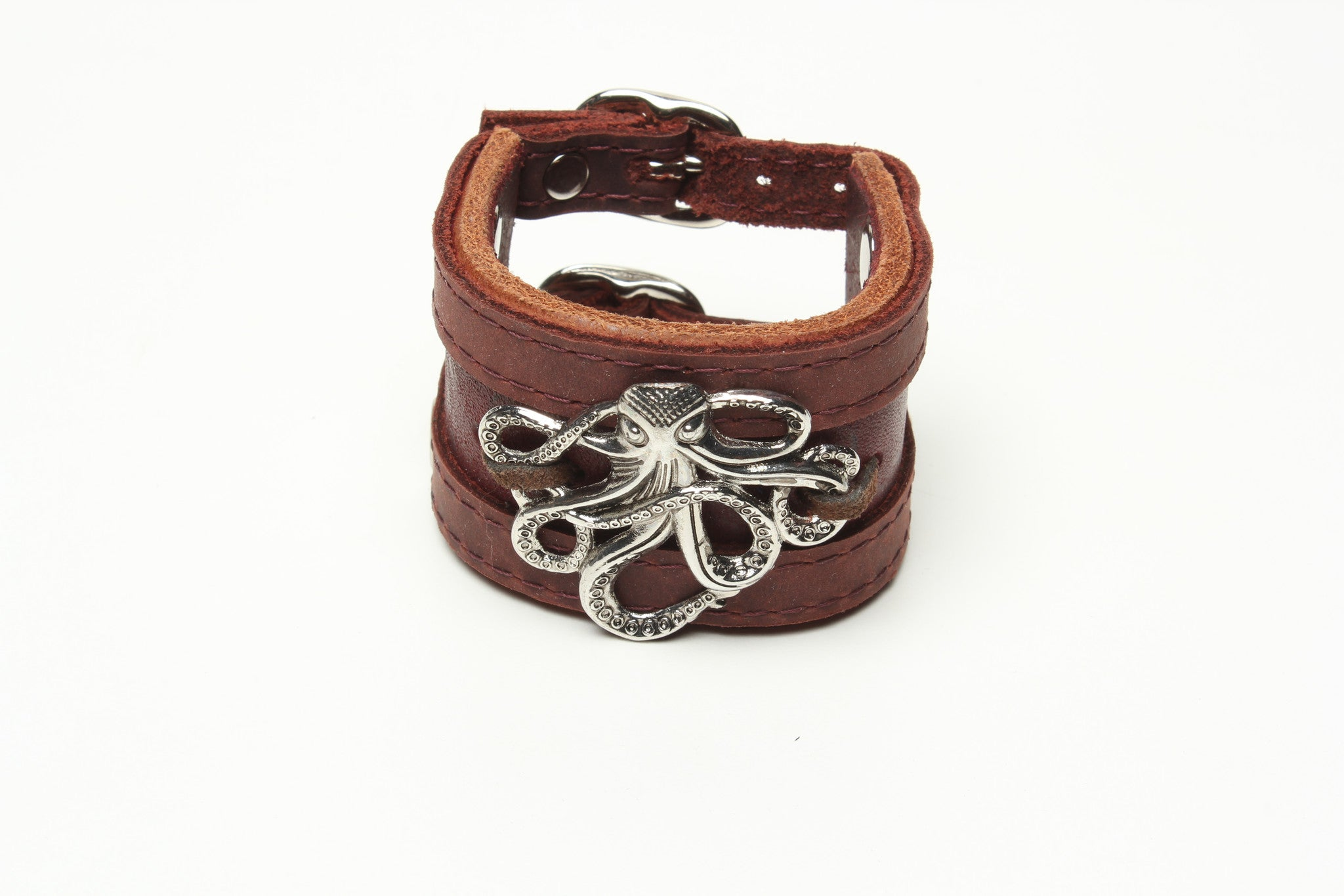LATIGO CUFF WITH OCTOPUS AND SUEDE by nyet jewelry.