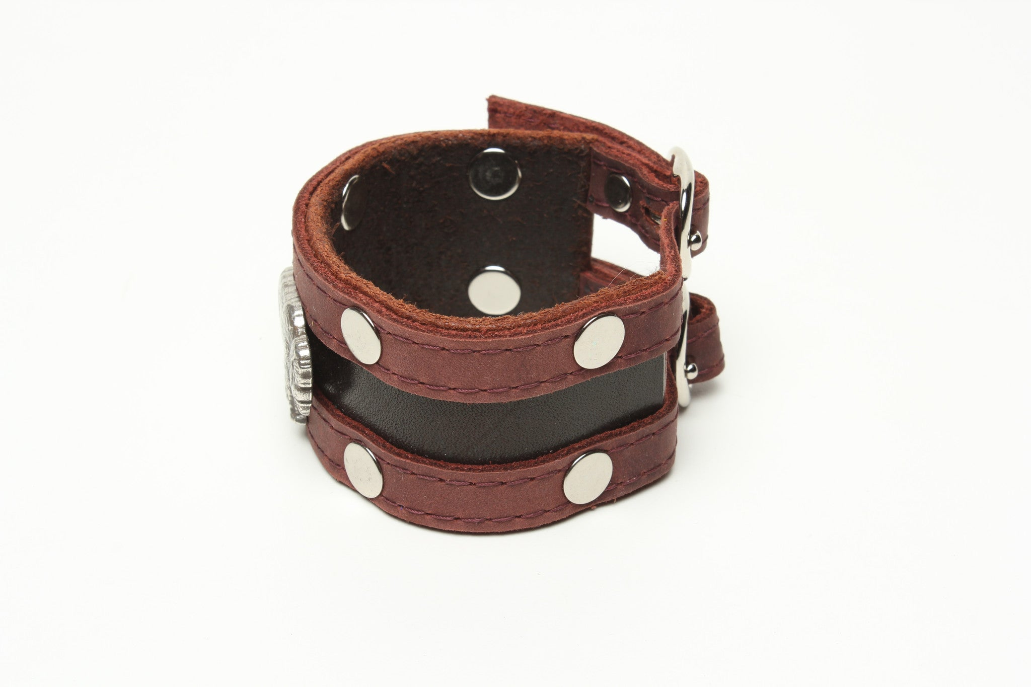 LATIGO CUFF WITH BISON CONCHO by nyet jewelry.