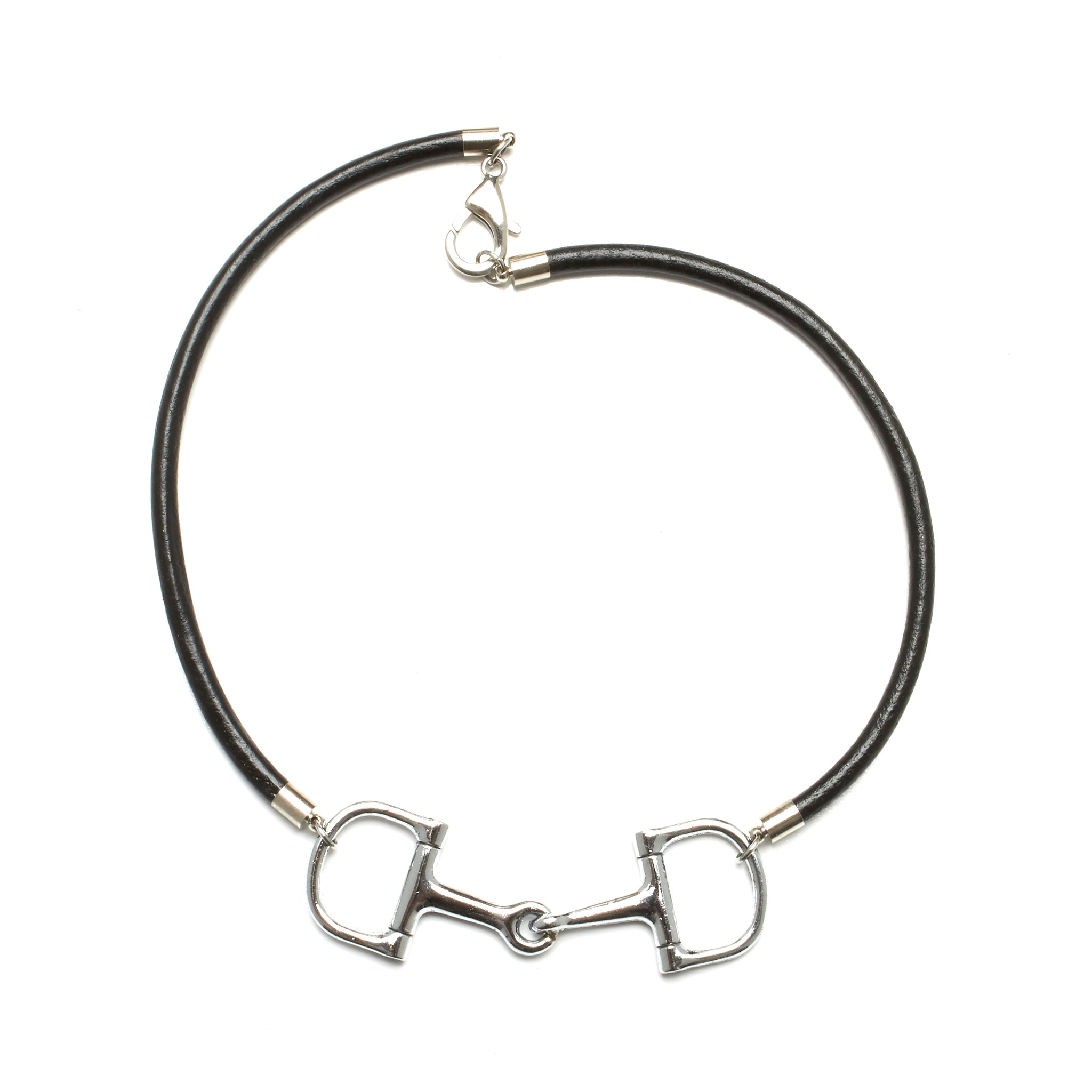 equestrian horse bit choker necklace by nyet jewelry.