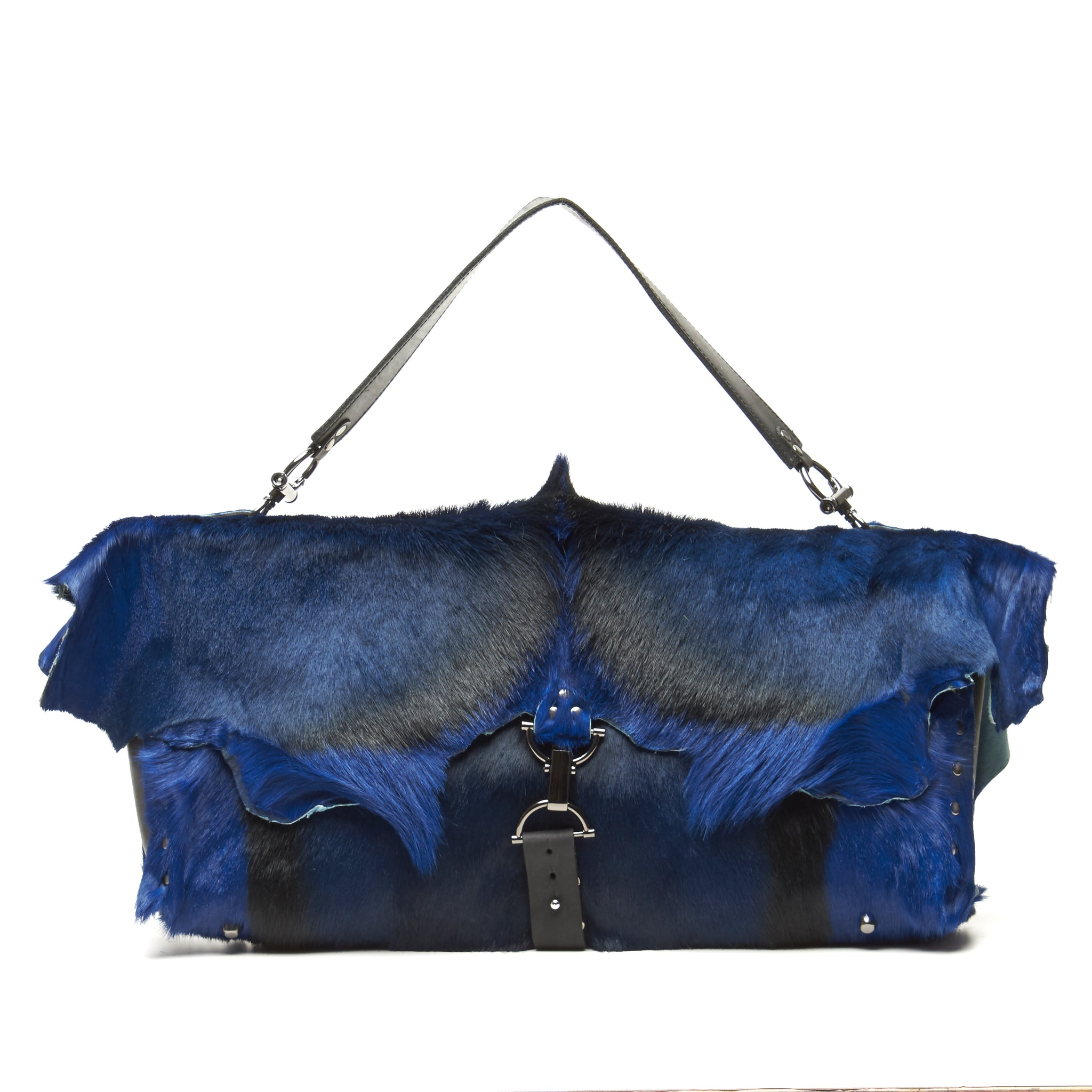 BRIGHTLY DYED SPRINGBOK OVERSIZED BAG BY NYET JEWELRY