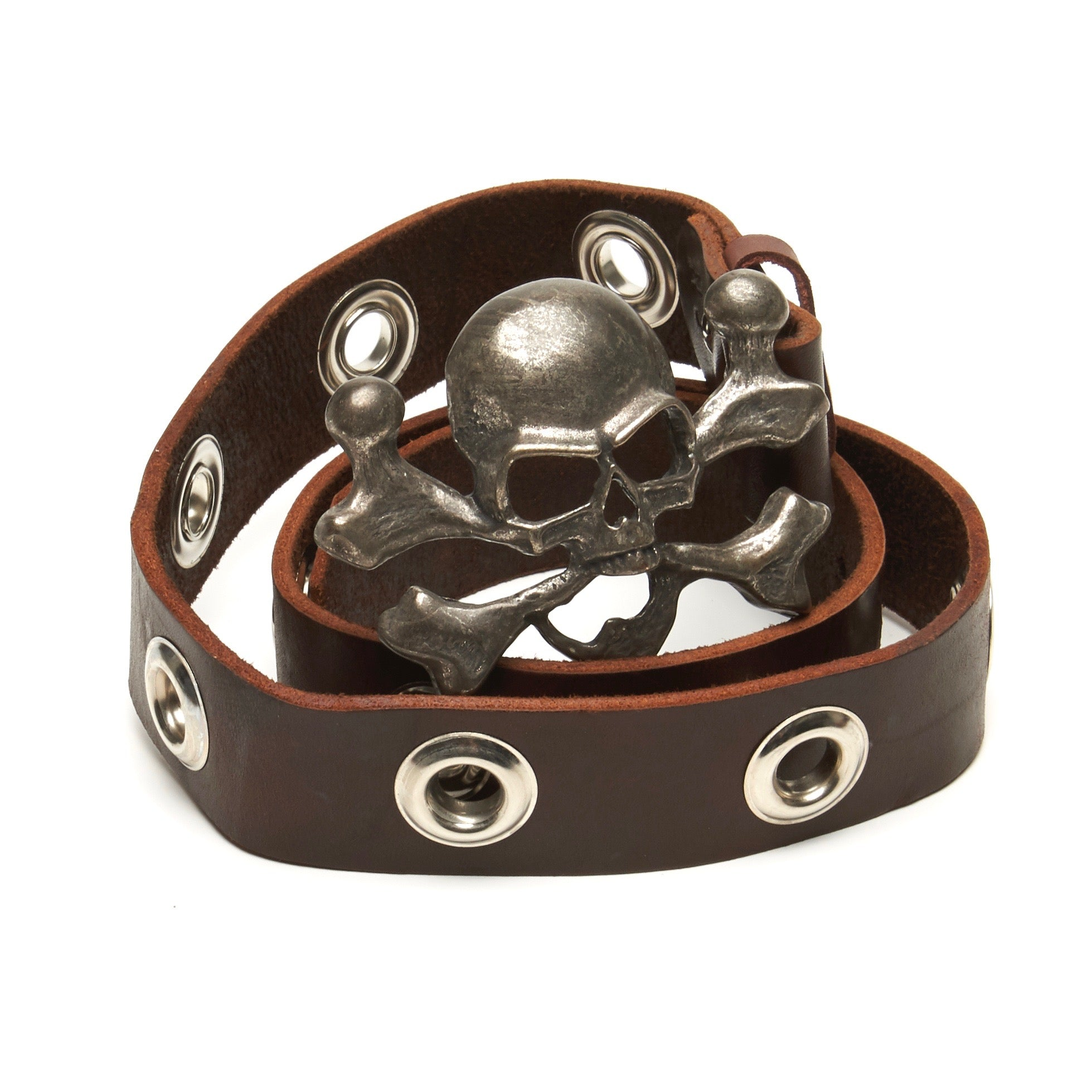 Skull and Portholes belt by NYET Jewelry.