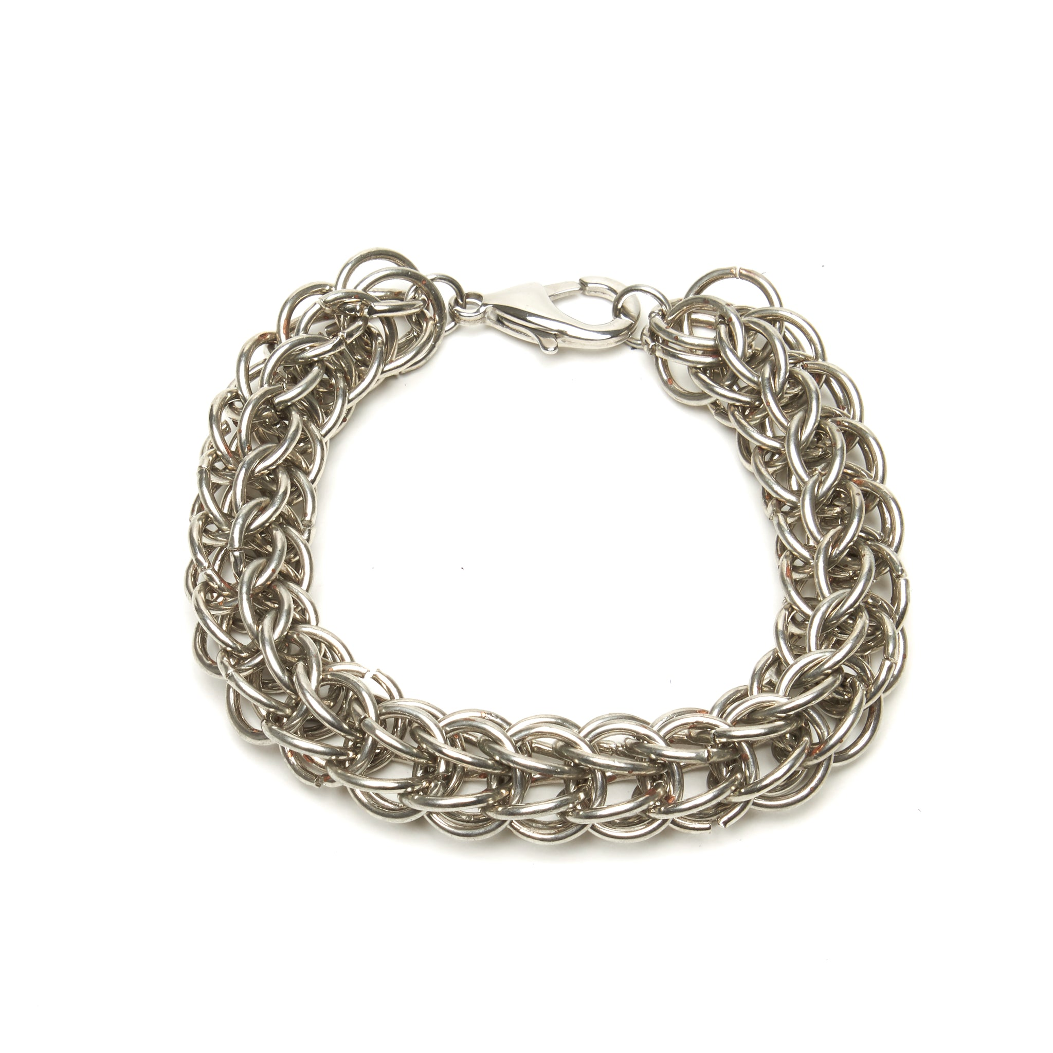 THICK PERSIAN WEAVE CHAINMAILLE BRACELET. by NYET Jewelry.