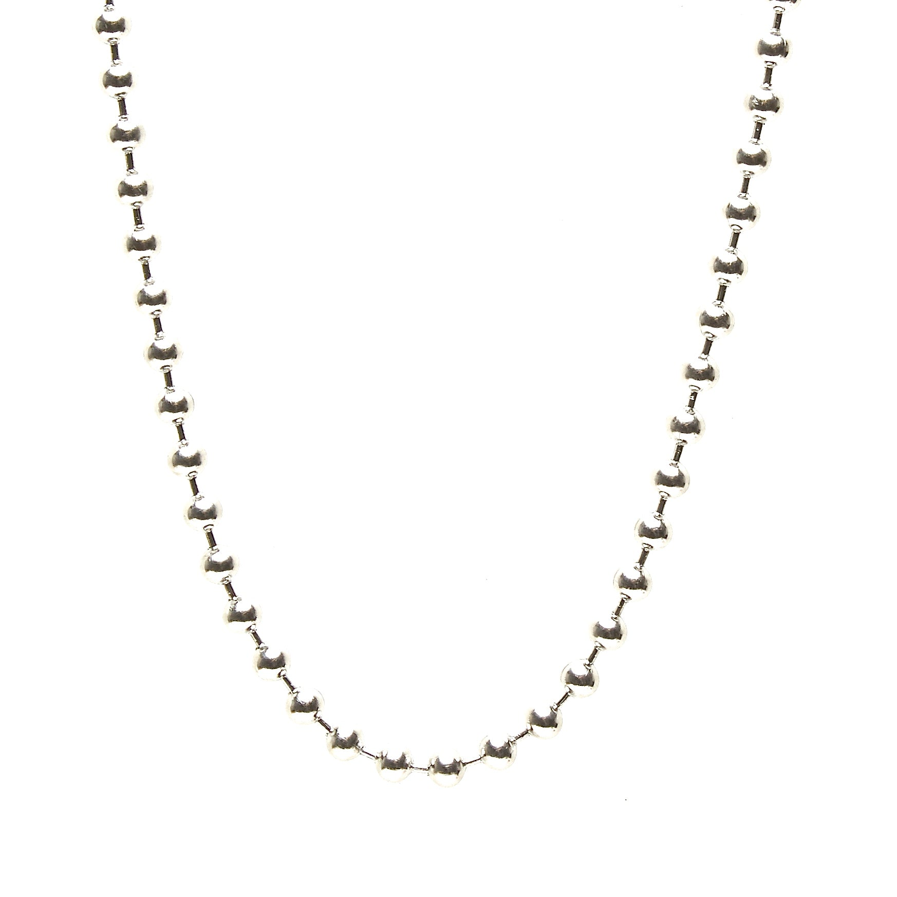 8-MM THICK STAINLESS STEEL BALL CHAIN NECKLACE. BY NYET JEWELRY.