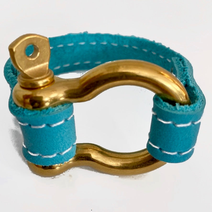 Signature aqua gold bracelet by NYET Jewelry