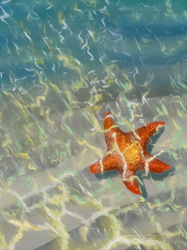SEA STAR BY THE SHORE PAINTING. by NYET Jewelry