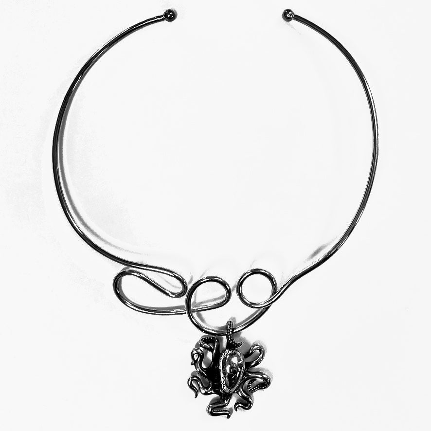 octopus choker necklace by NYET Jewelry  Edit alt text