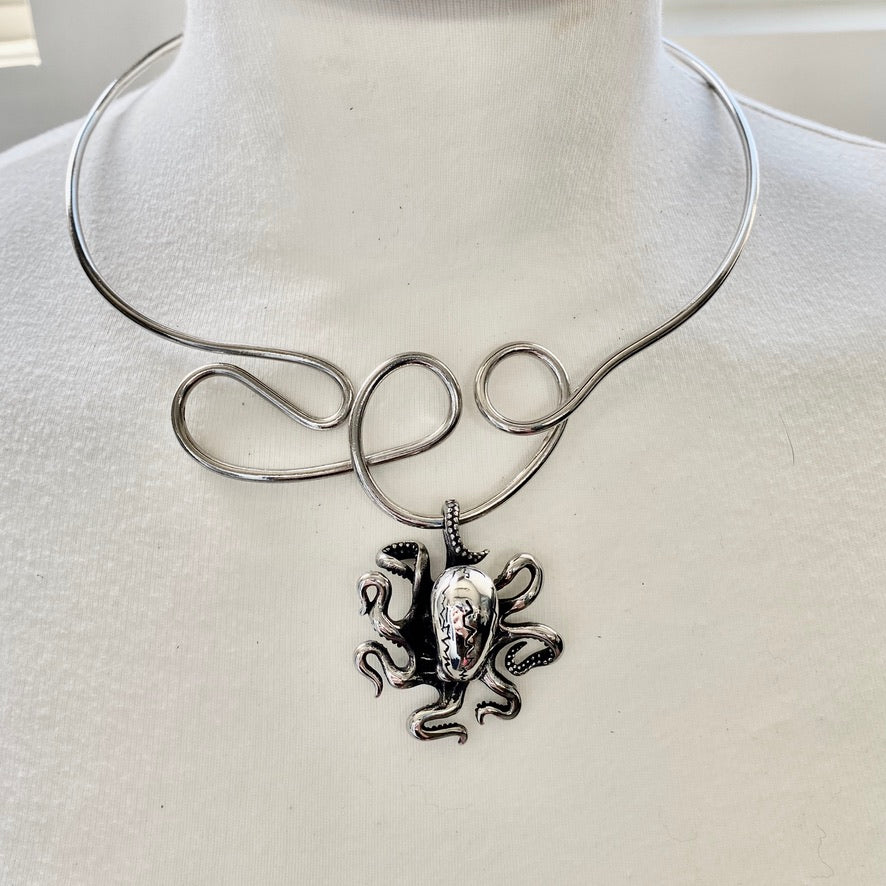 octopus choker necklace by NYET Jewelry