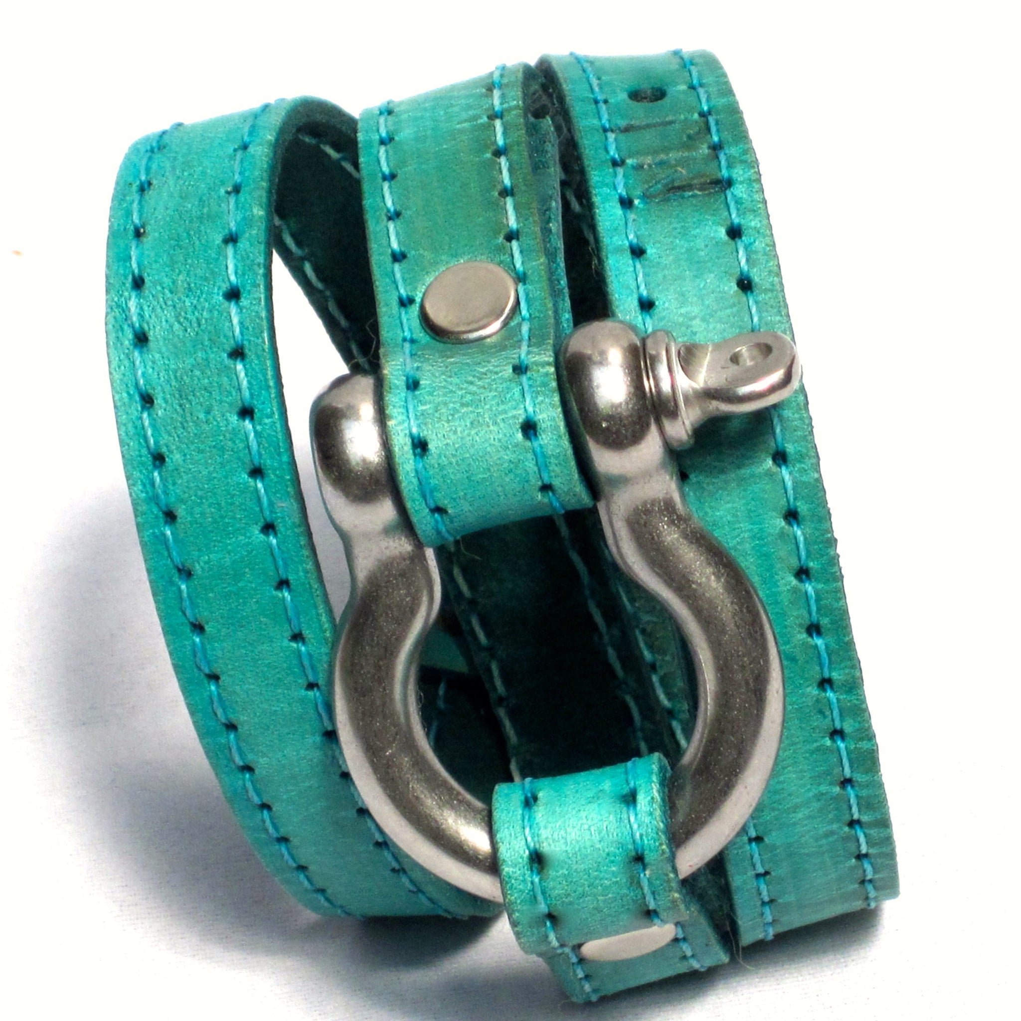 TRIPLE WRAPAROUND LEATHER BRACELET by nyet jewelry.