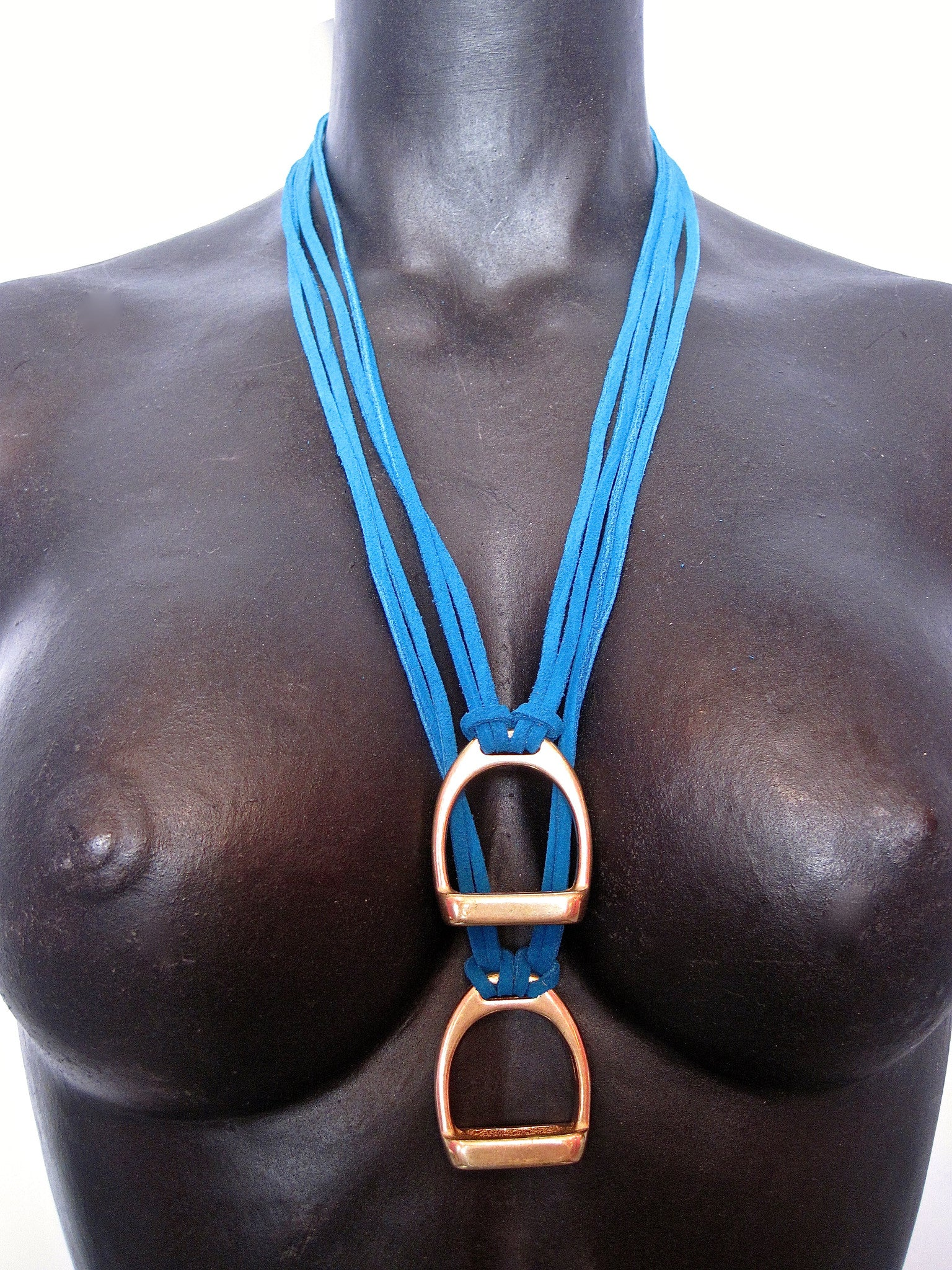 Stirrup Suede Necklace