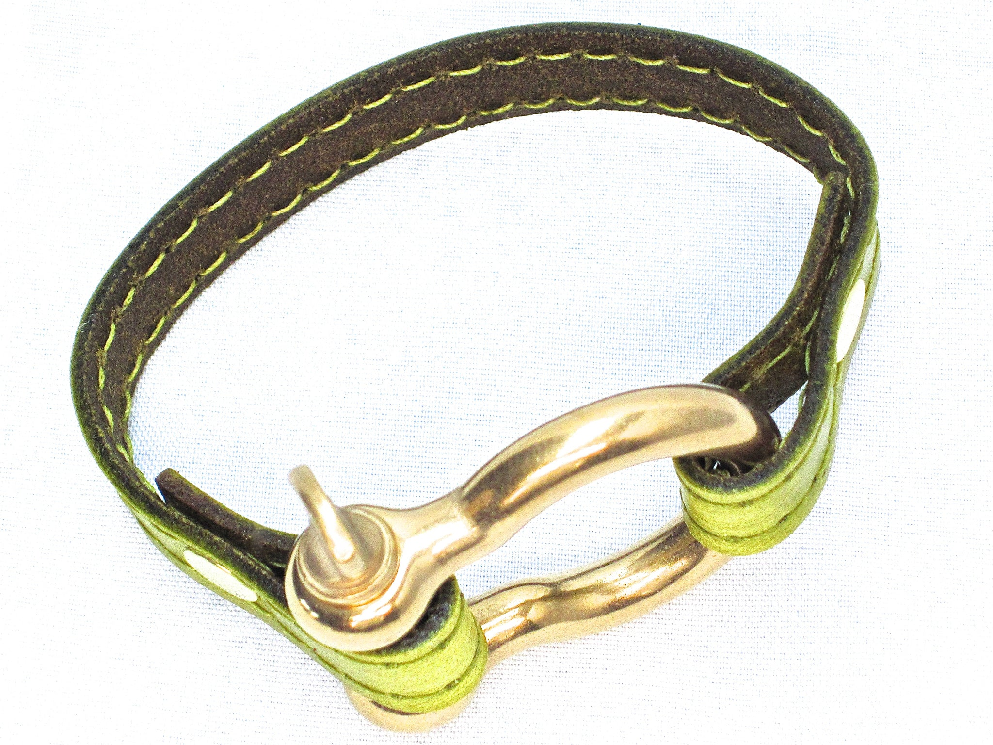 Nyet jewelry Signature Gold Bracelet Chartreuse by nyet jewelry