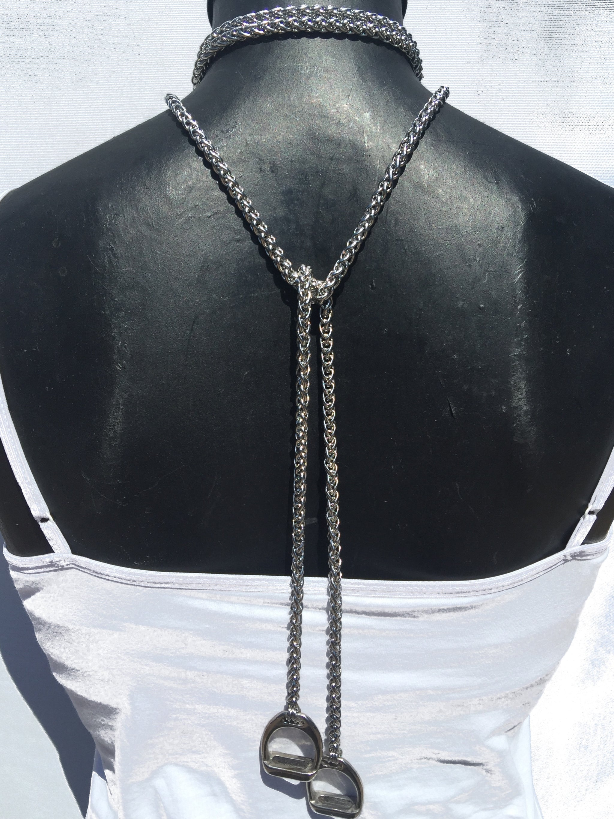 Extra Long Stainless Steel Lariat With stirrups