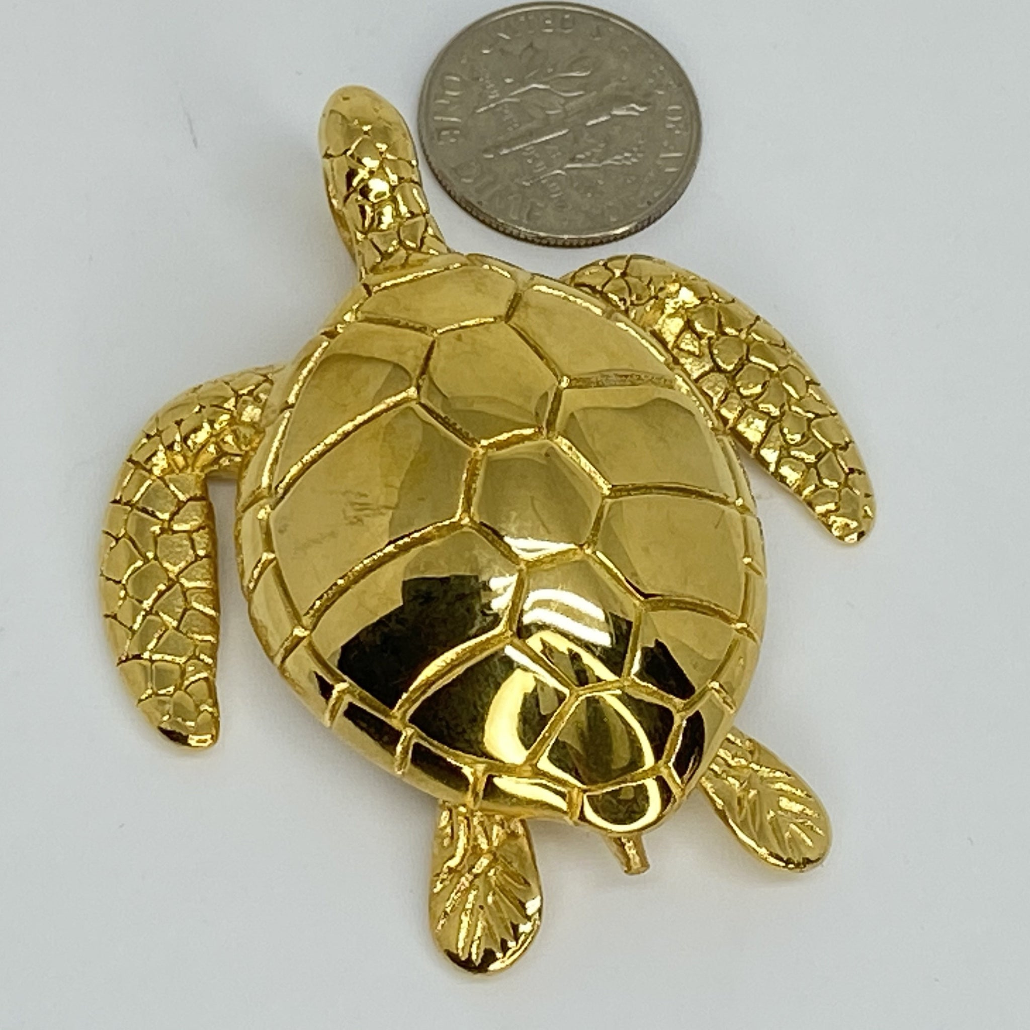 Stainless steel pendent turtle