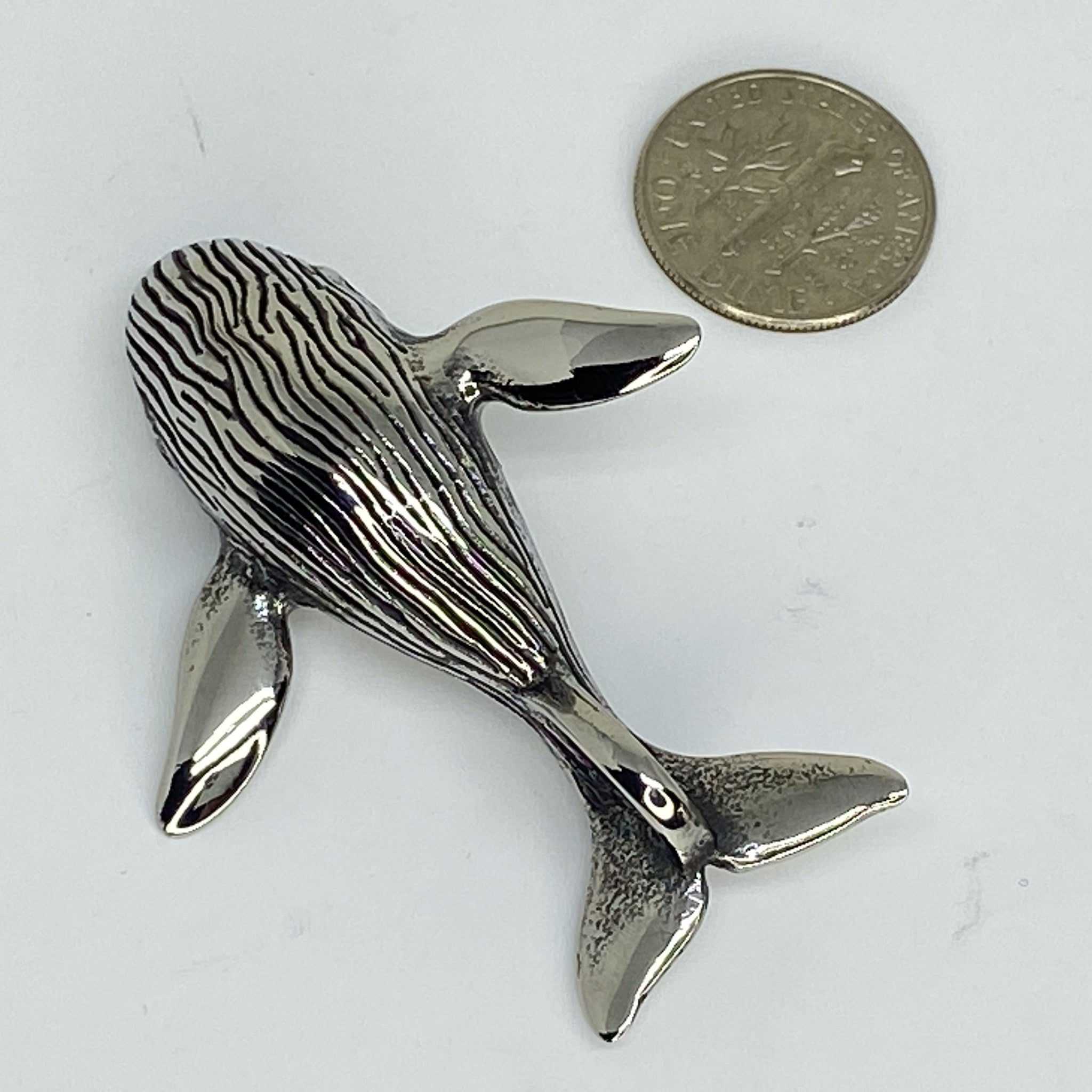 stainless steel pendent  whale