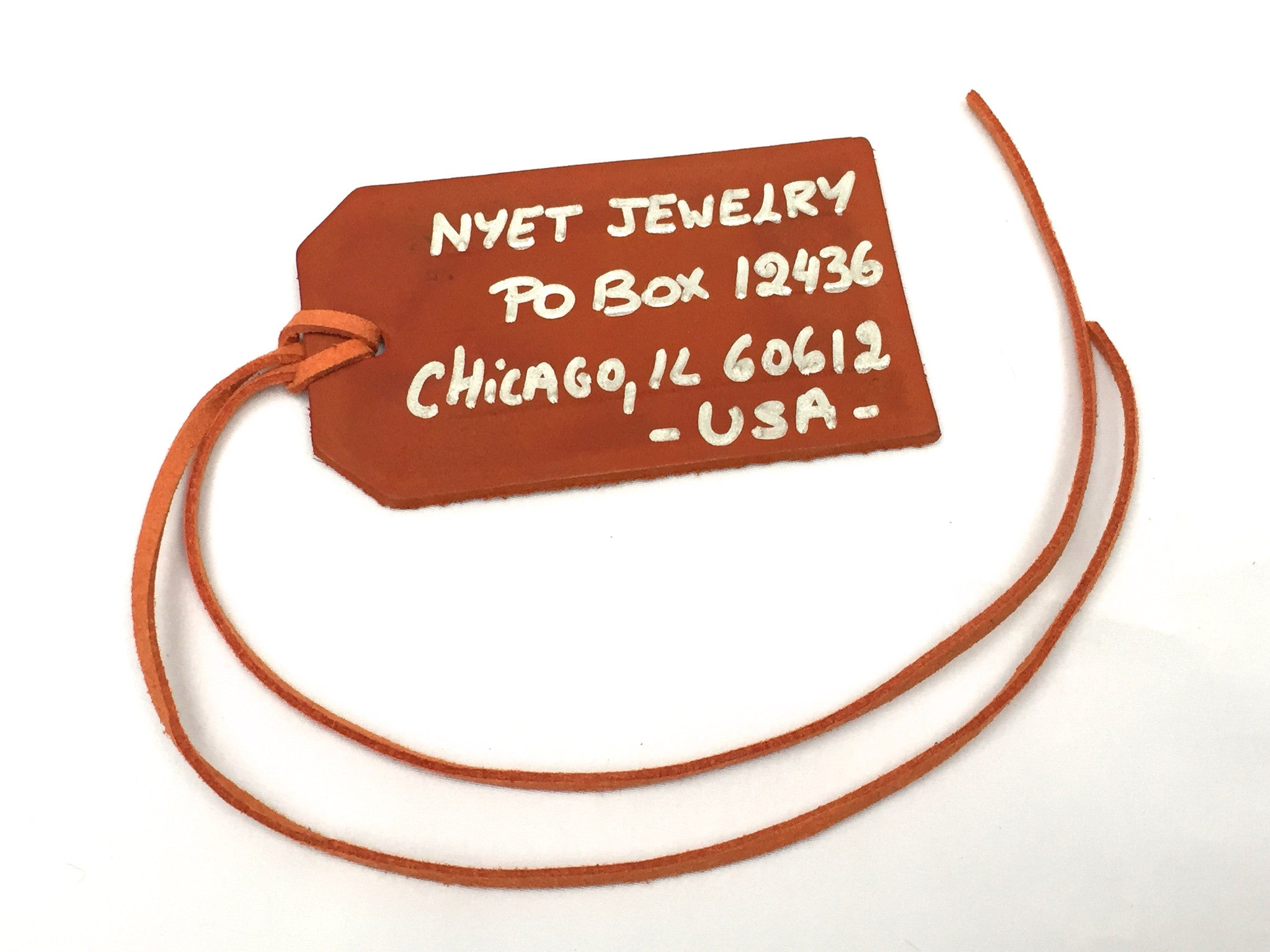 Leather Tag | Nyet Jewelry