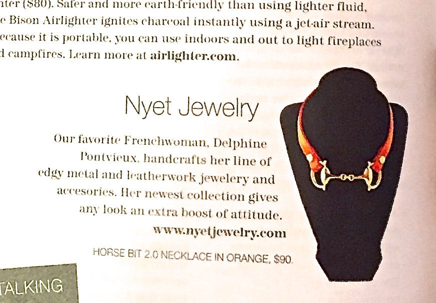 Nyet Jewelry featured in FW:Chicago mag holiday gift guide 2015