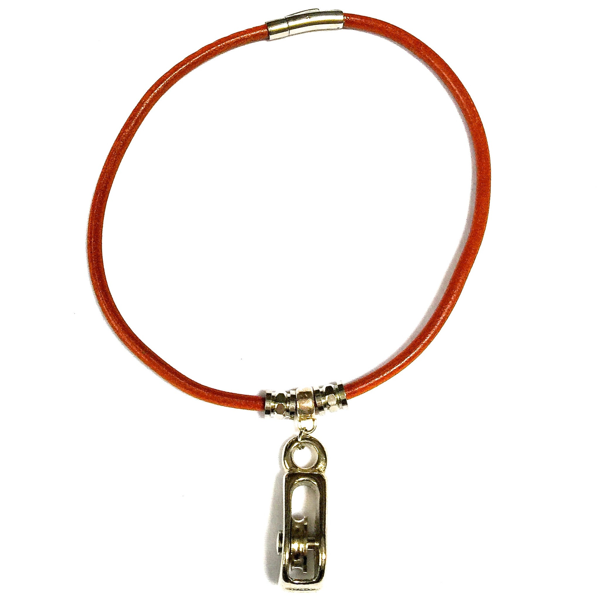 Pulley Leather Necklace