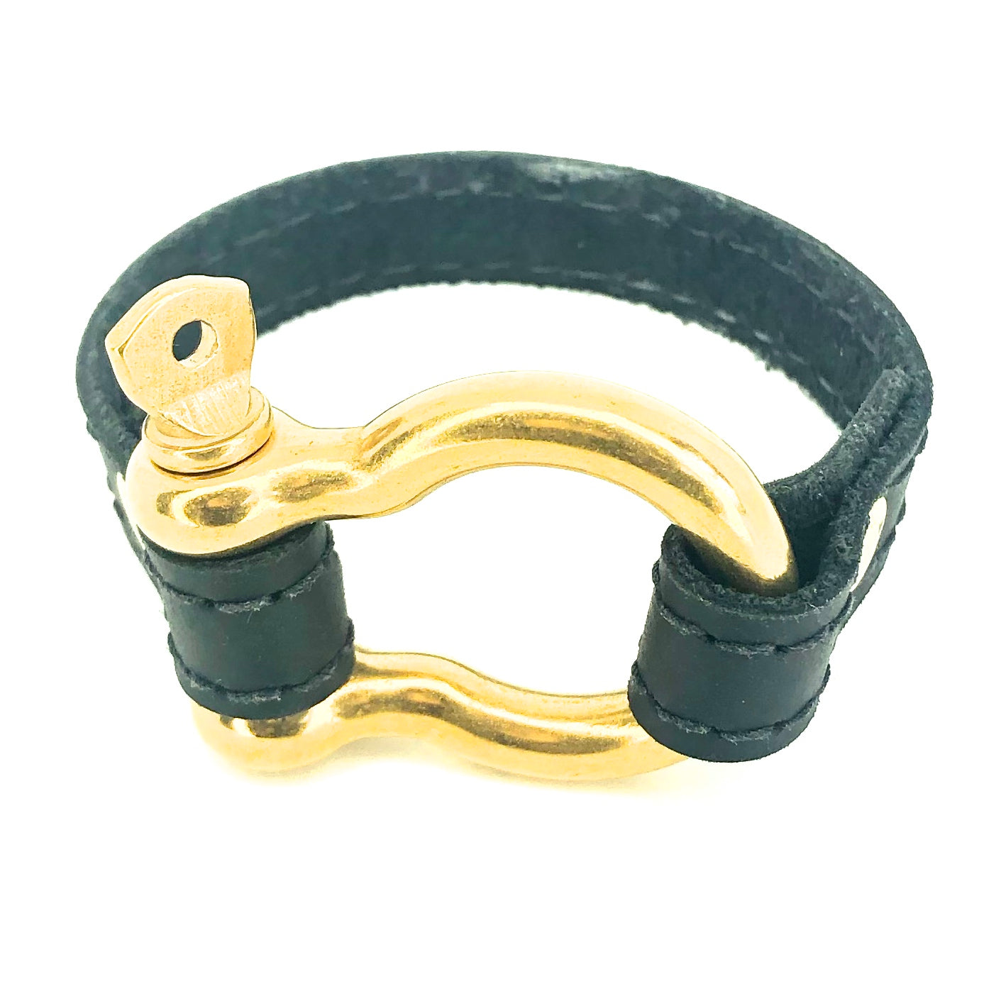 Nyet jewelry Signature Gold Bracelet Black by nyet jewelry.