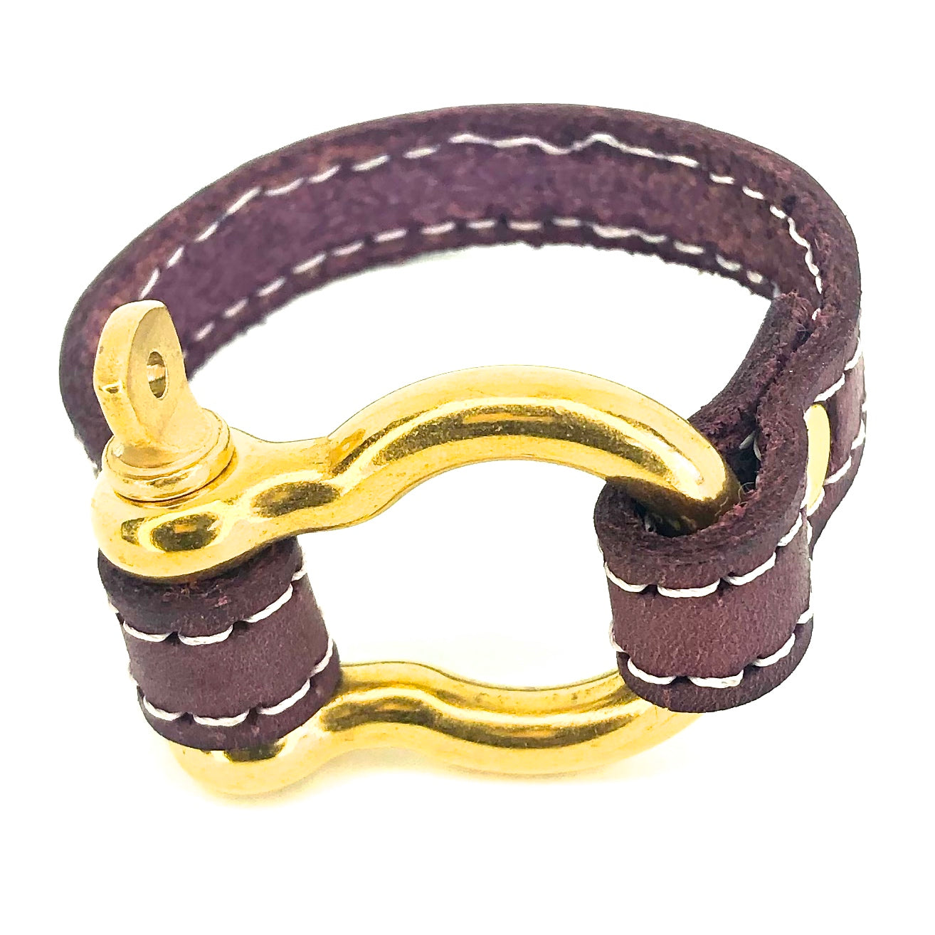 Nyet jewelry Signature Gold Bracelet Purple by nyet jewelry