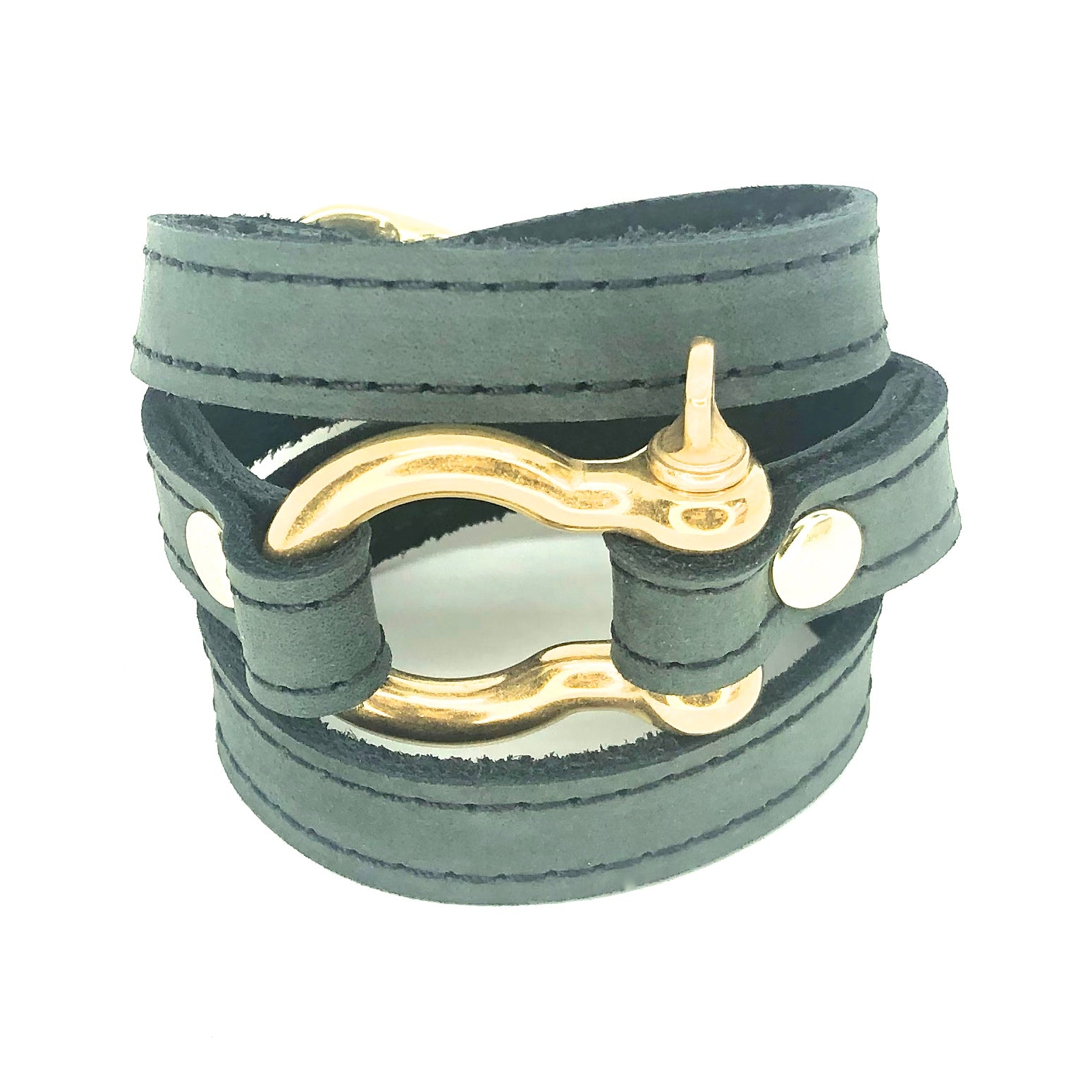 signature wraparound bracelet with shackle by nyet jewelry
