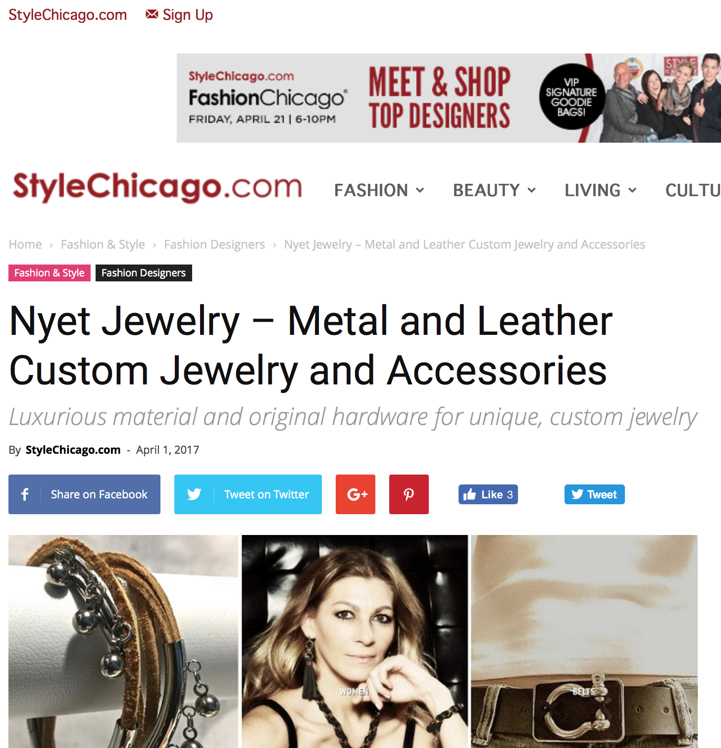 NYET JEWELRY FEATURED IN STYLECHICAGO.COM APRIL 2017