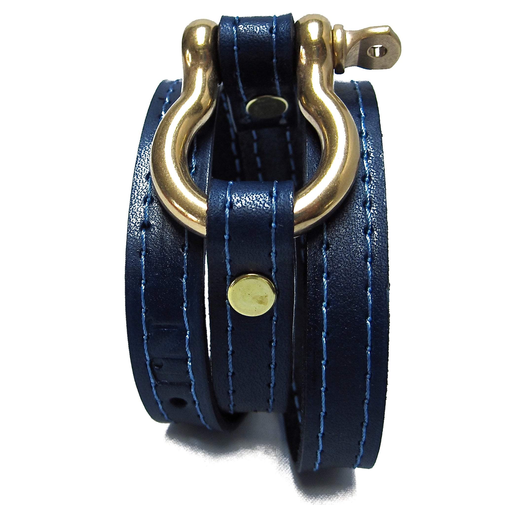 nyet jewelry Signature Gold Shackle Wraparound Bracelet Ultramarine by nyet jewelry