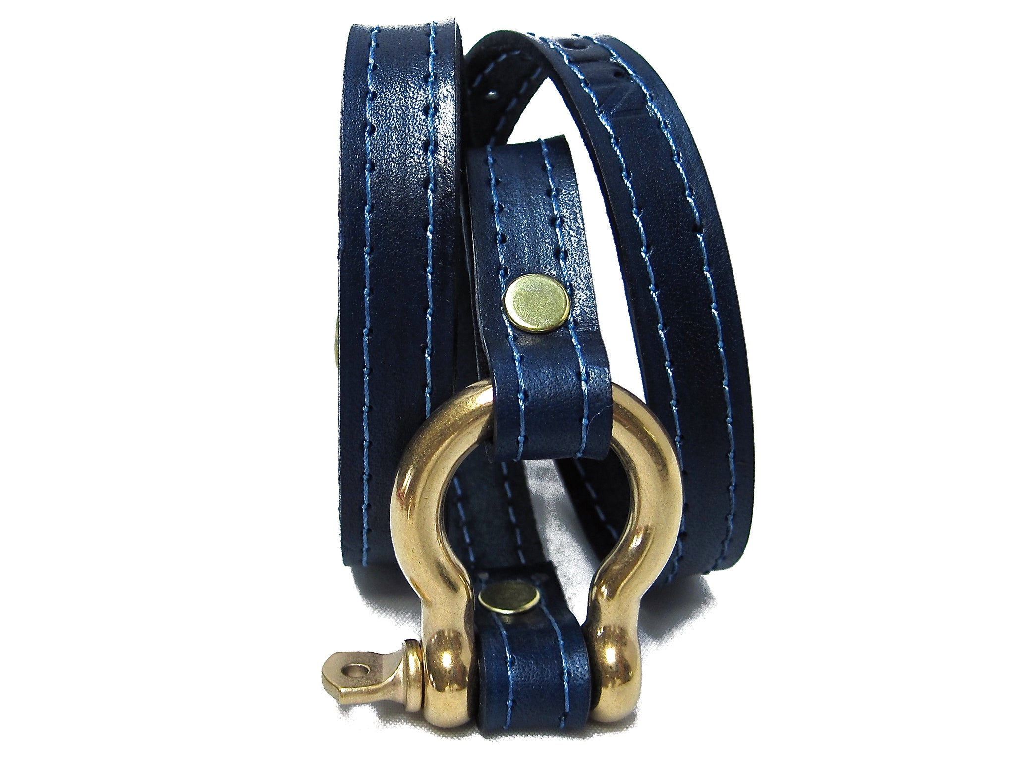 nyet jewelry Signature Gold Shackle Wraparound Bracelet Ultramarine