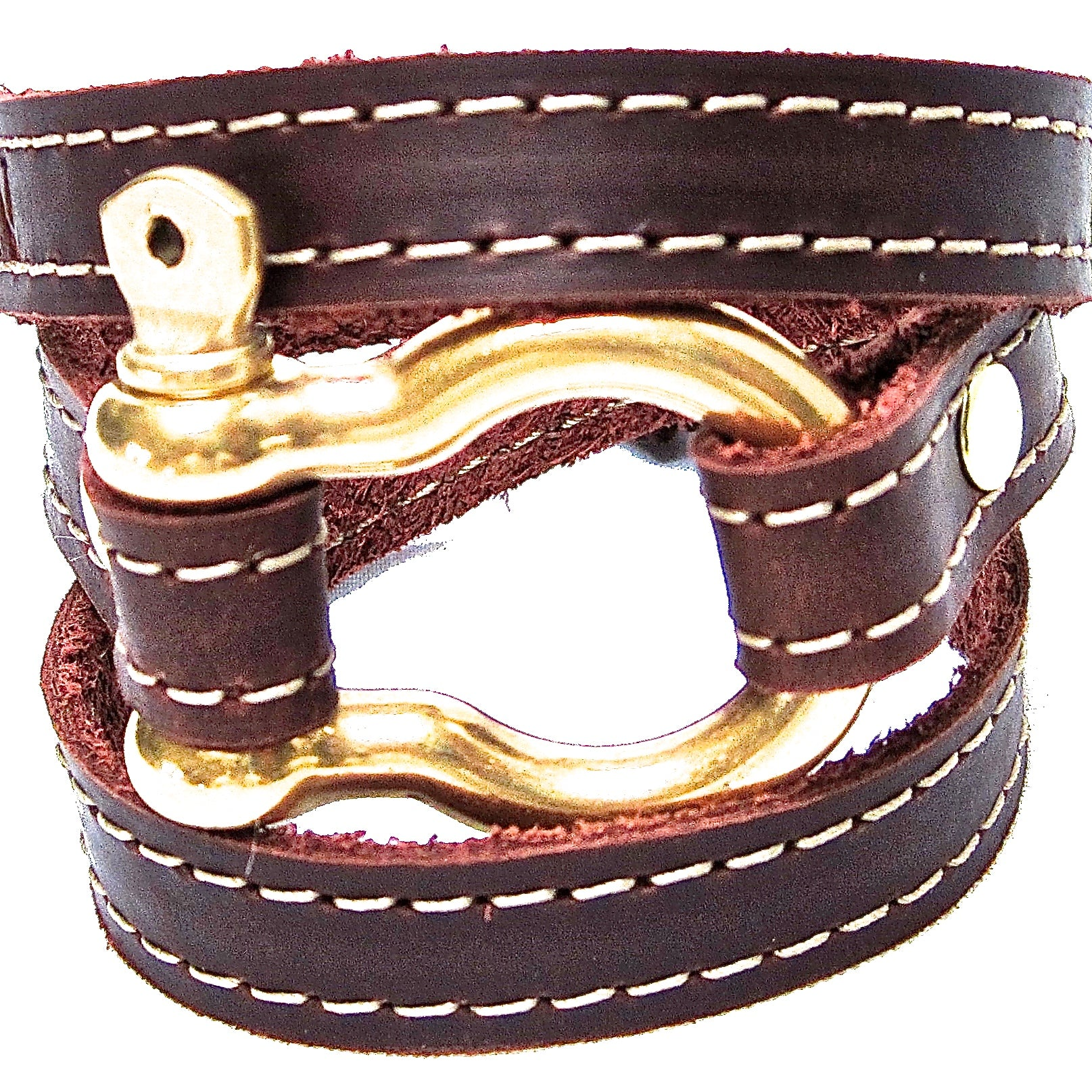 Nyet jewelry Signature Gold Shackle Wraparound Bracelet Brown BY NYET JEWELRY