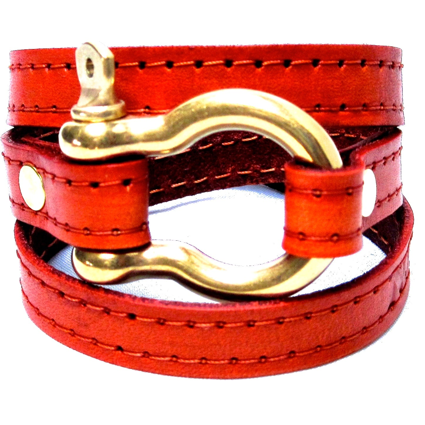 Nyet jewelry Signature Gold Shackle Wraparound Bracelet Orange BY NYET JEWELRY