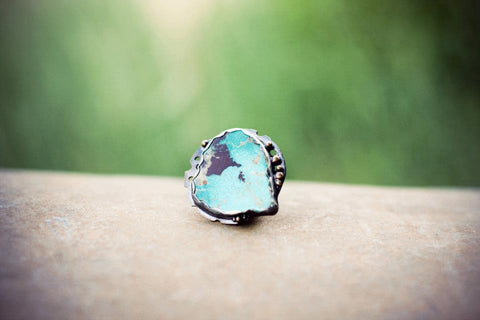 Nevada Blue Turquoise Stone Gemstone Jewelry Ring Union Studio Metals
